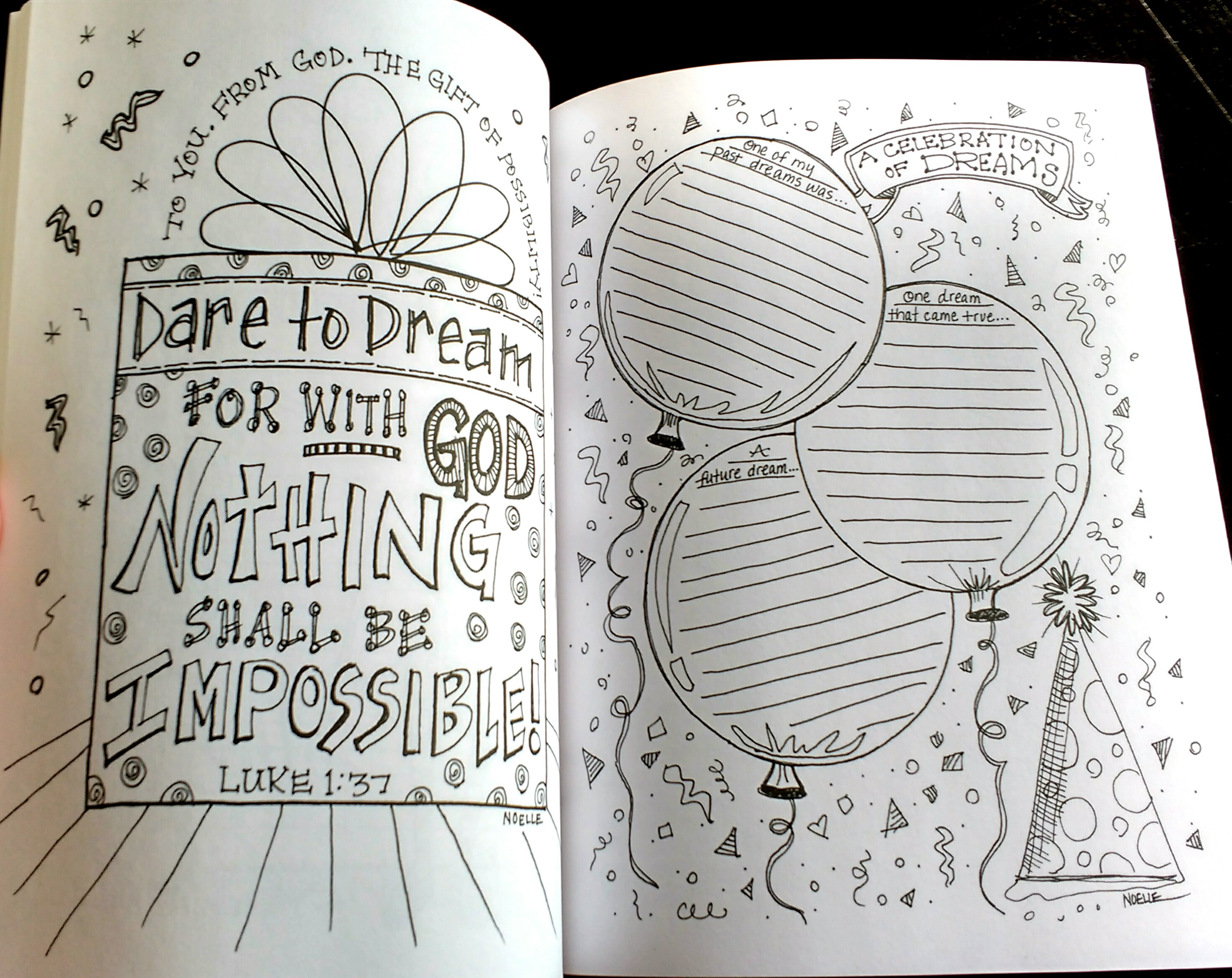 """Completely new My Scripture Coloring Journal"""" by Noelle Okolowicz   The Art of  IG98"""